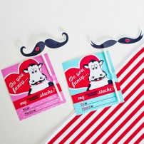 &quot;Moostache&quot; Mustache Valentines Day Printable Card and Mustache Prop - Instant Download